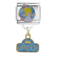 Italian Charms - princess dangle gift italian charm Image.
