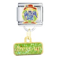 Italian Charms - dress up girl italian charms dangle italian charm Image.