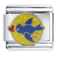 Italian Charms - blue bird valentine celebration italian charms Image.