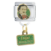 Italian Charms - edgar allen poe work &  leisure italian charm bracelet dangle italian charm Image.