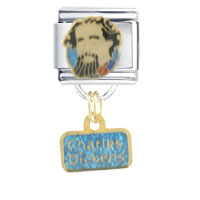 Italian Charms - charles dickens christmas italian charms dangle italian charm Image.