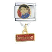 Italian Charms - rembrandt work &  leisure italian charm dangle italian charm Image.