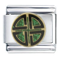 Italian Charms - shield knot italian charms Image.