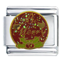 Italian Charms - be merry italian charms Image.