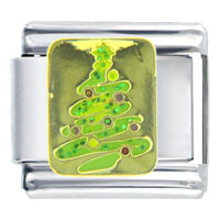 Italian Charms - golden italian charm bracelet christmas christmas tree gifts celebration Image.