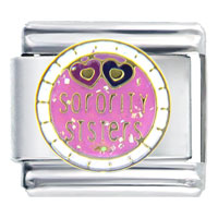 Italian Charms - sorority sisters words &  phrases italian charm bracelet Image.