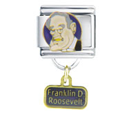 Italian Charms - president franklin roosevelt famous people italian charm dangle italian charm Image.
