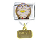 Italian Charms - president harry truman famous people italian charm dangle italian charm Image.