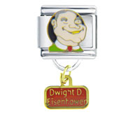 Italian Charms - president dwight eisenhower famous people italian charm bracelet dangle italian charm Image.