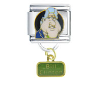 Italian Charms - president bill clinton famous people italian charm bracelet dangle italian charm Image.