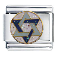 Italian Charms - bracelet star of david inspriational italian charms Image.