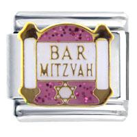 Italian Charms - bracelet pink jewish bar mitzvah inspriational italian charm Image.