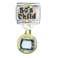 Italian Charms - 50 s child italian charms dangle italian charm Image.