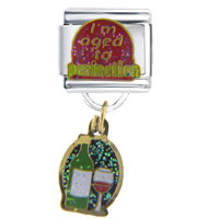 Italian Charms - i' m aged to perfection italian charms dangle italian charm Image.