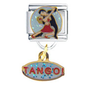 Italian Charms - dance tango dangle work &  leisure italian charm dangle italian charm Image.