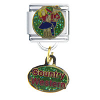 Italian Charms - dance country western work &  leisure italian charm dangle italian charm Image.