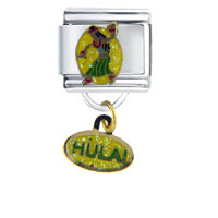 Italian Charms - dance hula work &  leisure italian charm bracelet dangle italian charm Image.