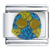 Italian Charms - blue yellow butterscotch birthstones jewelry italian charm Image.
