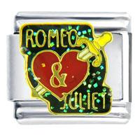 Italian Charms - romeo and juliet heart italian charm bracelet Image.