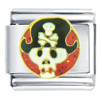 Italian Charms - pirate halloween skull italian charm Image.