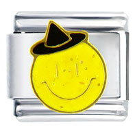 Italian Charms - happy face witch italian charm Image.