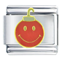 Italian Charms - happy face ornament italian charm Image.