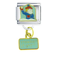 Italian Charms - kids snowball fight dangle italian charms Image.