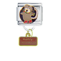 Italian Charms - christmouse holiday dangle italian charms Image.