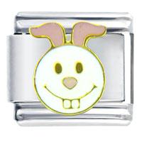 Italian Charms - happy face bunny italian charm Image.