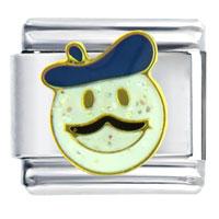 Italian Charms - happy face artist mood italian charm bracelet Image.