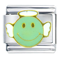 Italian Charms - bracelet happy face angel italian charms Image.
