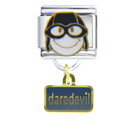 Italian Charms - happy face daredevil dangle italian charms Image.
