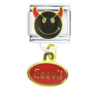Italian Charms - happy face eeevil dangle italian charms Image.