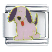 Italian Charms - purple puppy february jewelry italian charm Image.