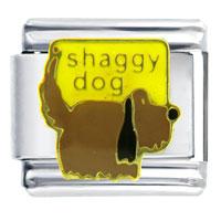 Italian Charms - shaggy dog italian charm Image.