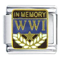Italian Charms - world war travel &  flags italian charm bracelet Image.