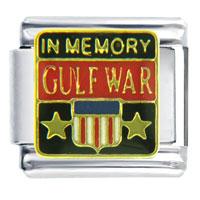 Italian Charms - gulf war memory travel &  flags italian charm bracelet Image.