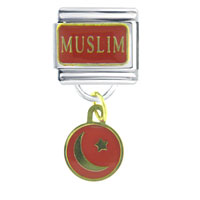 Italian Charms - muslim religious charms italian dangle italian charm Image.