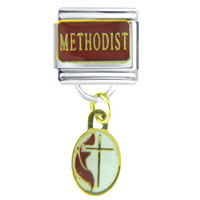 Italian Charms - bracelet golden italian charm methodist religious dangle italian charm Image.