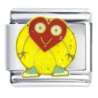 Italian Charms - happy heart italian charm bracelet Image.