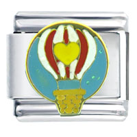 Italian Charms - heart hot air balloon italian charm bracelet Image.