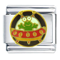 Italian Charms - alien space ship italian charms Image.