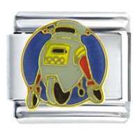 Italian Charms - roller robot italian charms Image.