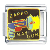 Italian Charms - kids ray gun gift italian charm Image.