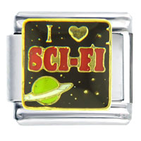 Italian Charms - i heart sci fi words &  phrases italian charm bracelet Image.