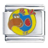 Italian Charms - bird gift italian charm Image.