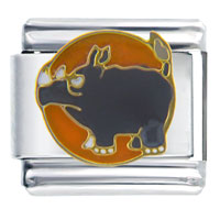 Italian Charms - big rhinoceros italian charms Image.