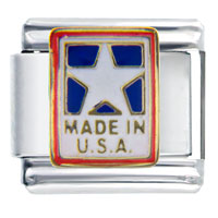 Italian Charms - made in travel &  flags italian charm bracelet Image.
