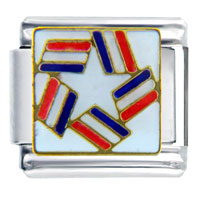 Italian Charms - patriotic star travel &  flags italian charm bracelet Image.