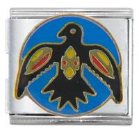 Italian Charms - raven travel &  flags italian charm bracelet Image.